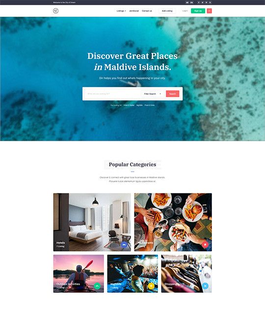 JA City GuideJA City Guide is a Creative Travel and Tour Guide Joomla Template website designed by JoomlArt. The template fully supports JomSocial to build beautiful social, community system on your Joomla site.